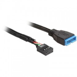 Cable Kablex USB 2.0 Placa Base 9 Pines Hembra / USB 3.0 19 Pines Macho