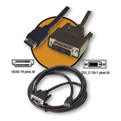 CABLE KABLEX HDMI 19 MACHO / DVI 18+1 MACHO 3M